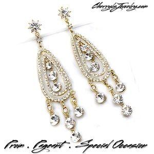 """Jim Ball Jewelry - 5"""" Swarovski Crystal Chandelier Earrings"""